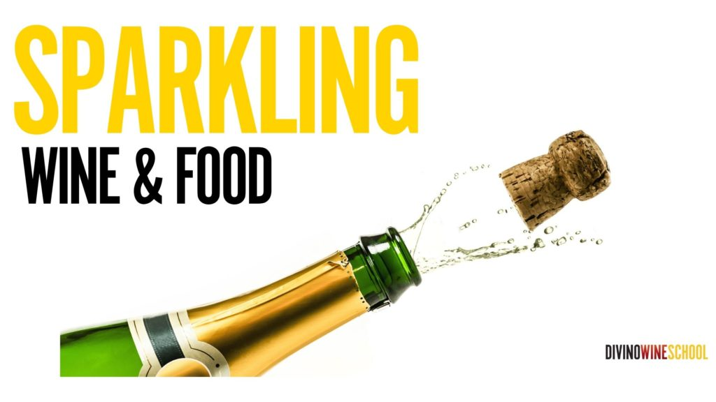 sparkling wine and food