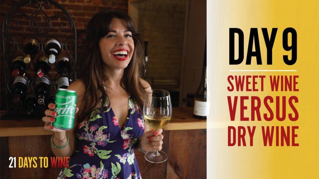 sweet versus dry wine