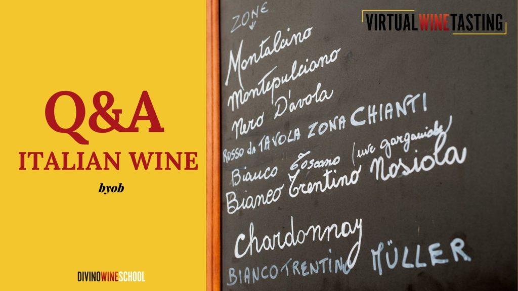 Q&A Italian wine